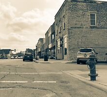 Wilmington Illinois, USA, Water Street old image style split tone by brians101