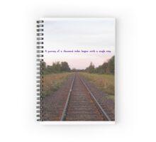 Railway Journey Inspiration  Spiral Notebook