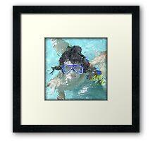 Face Under Water Framed Print