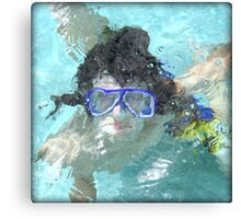 Face Under Water Canvas Print