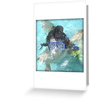 Face Under Water Greeting Card