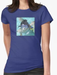 Face Under Water Womens Fitted T-Shirt