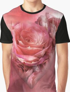 Heart Of A Rose - Melon Peach Graphic T-Shirt