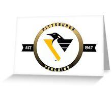 Pittsburgh Penguins vintage logo (est. 1967) Greeting Card