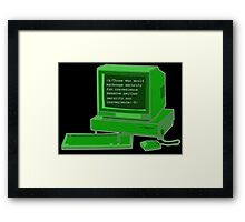 Brute Force Framed Print