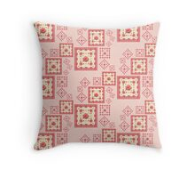Salmon Pink Rose Throw Pillow