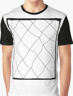 Fishnets, Black and White Graphic T-Shirt