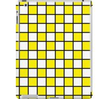 Checkered Outlined Yellow and Black  iPad Case/Skin