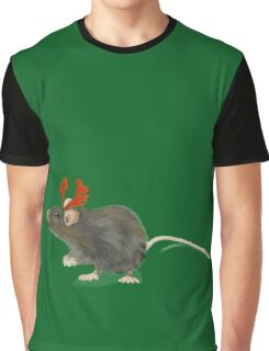 Christmas Rat by Anne Winkler Graphic T-Shirt