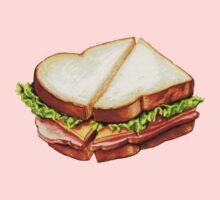 Ham Sandwich Pattern One Piece - Long Sleeve