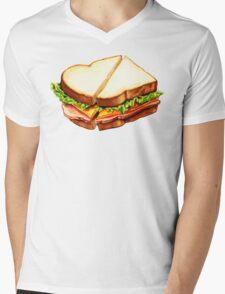 Ham Sandwich Pattern Mens V-Neck T-Shirt