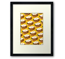 Ham Sandwich Pattern Framed Print