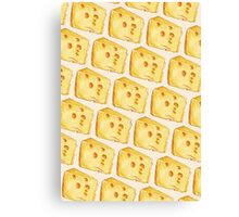 Cheese Pattern - White Canvas Print