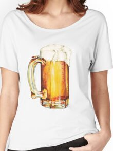 St. Patricks Day - Beer Pattern Women's Relaxed Fit T-Shirt