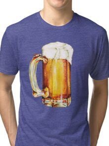 St. Patricks Day - Beer Pattern Tri-blend T-Shirt