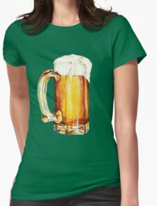 St. Patricks Day - Beer Pattern Womens Fitted T-Shirt