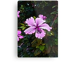 Lavender Abstract Flower Scene  Metal Print
