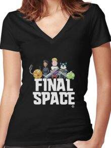 Olan Rogers' Final Space Women's Fitted V-Neck T-Shirt