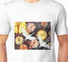 Cranes Clocks Unisex T-Shirt