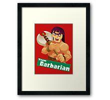 Splatfest Team Barbarian v.2 Framed Print