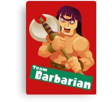 Splatfest Team Barbarian v.2 Canvas Print