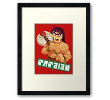 Splatfest Team Barbarian v.4 Framed Print