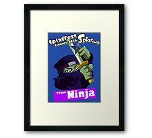 Splatfest Team Ninja v.1 Framed Print