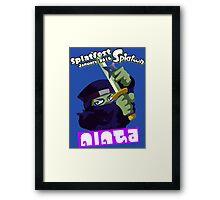 Splatfest Team Ninja v.3 Framed Print