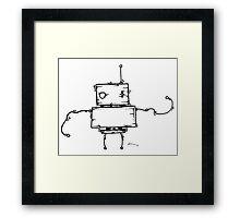 PEA the robot Framed Print
