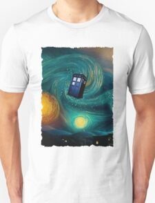 Starry Night Tardis Art Painting T-Shirt