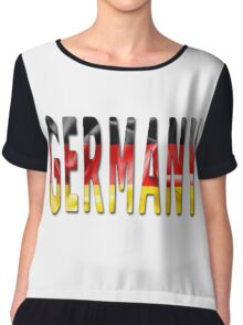 Germany Word With Flag Texture Chiffon Top