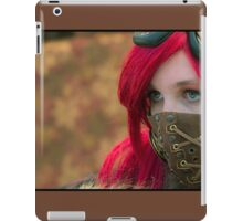 Mysterious Steam Punk Red Head iPad Case/Skin