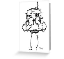 NUMB LOK the robot Greeting Card