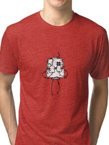 NUMB LOK the robot - white BG Tri-blend T-Shirt