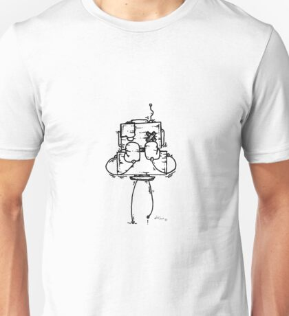 NUMB LOK the robot - white BG Unisex T-Shirt