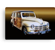 1949 Plymouth Woodie Wagon Canvas Print