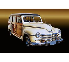 1949 Plymouth Special Deluxe Woodie Wagon Photographic Print
