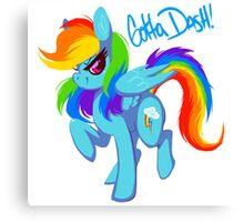 "Rainbow Dash ""Gotta dash!"" Canvas Print"