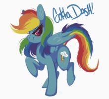 """Rainbow Dash """"Gotta dash!"""" Kids Tee"""