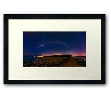 Milky Way over Noosa Heads Framed Print