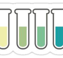 Gradual colour changes, across a range of pH. Sticker