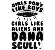 girls like aliens and dana scully Poster