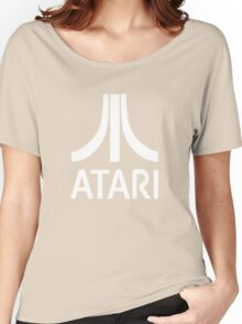 Atari White+Red Women's Relaxed Fit T-Shirt