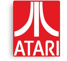 Atari White+Red Canvas Print