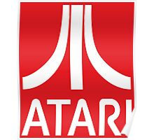 Atari White+Red Poster