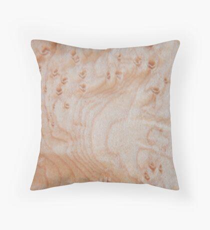 Unique eye maple wood design Throw Pillow
