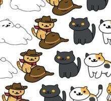 Kitty Pattern 3 Sticker