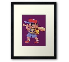 Ness Sticker Framed Print