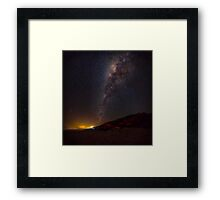 Milky Way over Noosa North Shore Framed Print