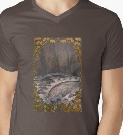 Steam punk forest Mens V-Neck T-Shirt